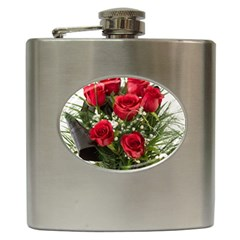 Red Roses Roses Red Flower Love Hip Flask (6 Oz)