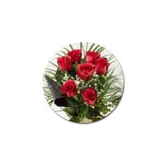 Red Roses Roses Red Flower Love Golf Ball Marker (4 Pack)