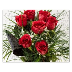 Red Roses Roses Red Flower Love Rectangular Jigsaw Puzzl