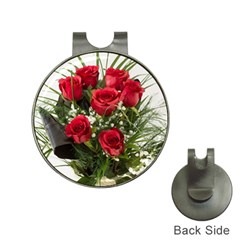 Red Roses Roses Red Flower Love Hat Clips With Golf Markers