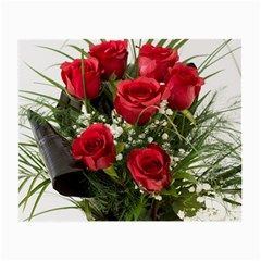 Red Roses Roses Red Flower Love Small Glasses Cloth