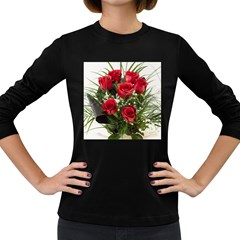 Red Roses Roses Red Flower Love Women s Long Sleeve Dark T Shirts