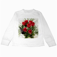 Red Roses Roses Red Flower Love Kids Long Sleeve T Shirts