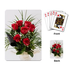 Red Roses Roses Red Flower Love Playing Card