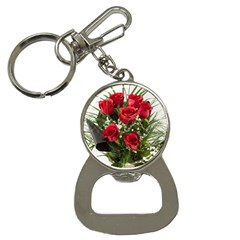 Red Roses Roses Red Flower Love Button Necklaces