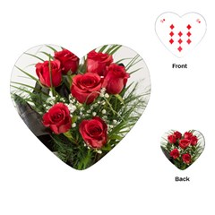 Red Roses Roses Red Flower Love Playing Cards (heart)