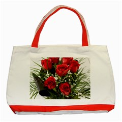 Red Roses Roses Red Flower Love Classic Tote Bag (red)