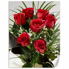 Red Roses Roses Red Flower Love Canvas 12  X 16