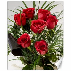 Red Roses Roses Red Flower Love Canvas 16  X 20