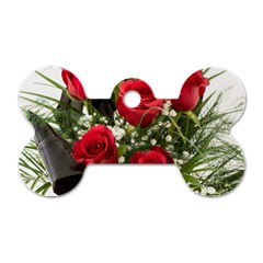Red Roses Roses Red Flower Love Dog Tag Bone (Two Sides)
