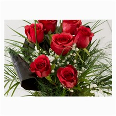 Red Roses Roses Red Flower Love Large Glasses Cloth