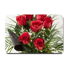 Red Roses Roses Red Flower Love Small Doormat