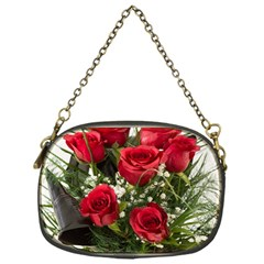 Red Roses Roses Red Flower Love Chain Purses (one Side)