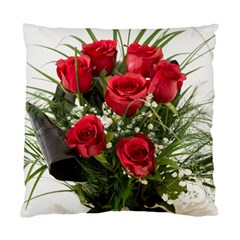 Red Roses Roses Red Flower Love Standard Cushion Case (two Sides)