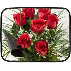 Red Roses Roses Red Flower Love Fleece Blanket (mini)