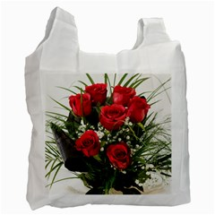 Red Roses Roses Red Flower Love Recycle Bag (one Side)