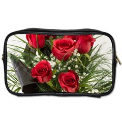 Red Roses Roses Red Flower Love Toiletries Bags