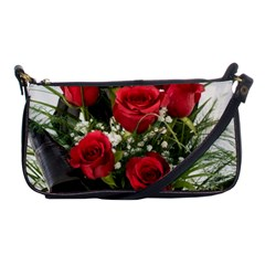 Red Roses Roses Red Flower Love Shoulder Clutch Bags
