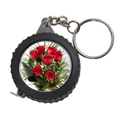 Red Roses Roses Red Flower Love Measuring Tapes