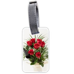 Red Roses Roses Red Flower Love Luggage Tags (one Side)