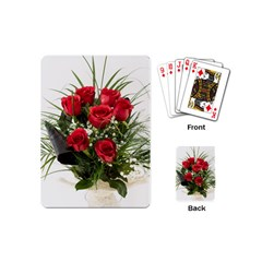Red Roses Roses Red Flower Love Playing Cards (mini)