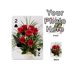 Red Roses Roses Red Flower Love Playing Cards 54 (mini)
