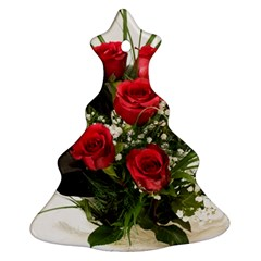 Red Roses Roses Red Flower Love Christmas Tree Ornament (Two Sides)