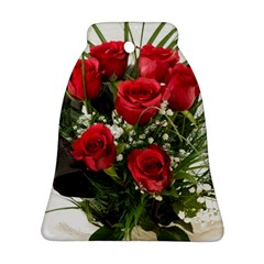 Red Roses Roses Red Flower Love Bell Ornament (two Sides)
