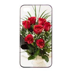 Red Roses Roses Red Flower Love Apple Iphone 4/4s Seamless Case (black)