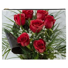 Red Roses Roses Red Flower Love Cosmetic Bag (xxxl)