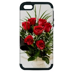 Red Roses Roses Red Flower Love Apple Iphone 5 Hardshell Case (pc+silicone)