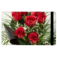 Red Roses Roses Red Flower Love Apple Ipad 3/4 Flip Case