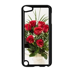 Red Roses Roses Red Flower Love Apple Ipod Touch 5 Case (black)
