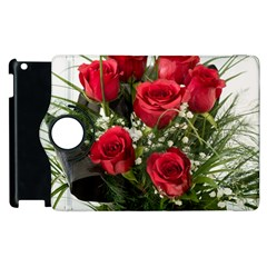 Red Roses Roses Red Flower Love Apple Ipad 3/4 Flip 360 Case