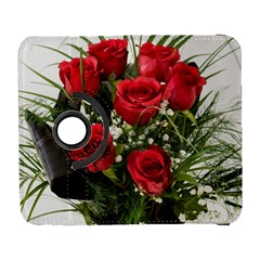 Red Roses Roses Red Flower Love Galaxy S3 (flip/folio)
