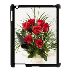 Red Roses Roses Red Flower Love Apple iPad 3/4 Case (Black)