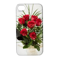 Red Roses Roses Red Flower Love Apple Iphone 4/4s Hardshell Case With Stand