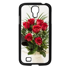 Red Roses Roses Red Flower Love Samsung Galaxy S4 I9500/ I9505 Case (black)
