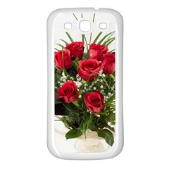 Red Roses Roses Red Flower Love Samsung Galaxy S3 Back Case (White)