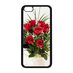 Red Roses Roses Red Flower Love Apple Iphone 5c Seamless Case (black)