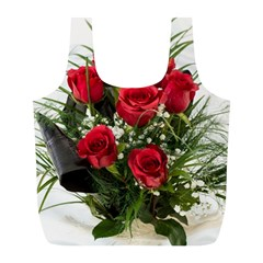 Red Roses Roses Red Flower Love Full Print Recycle Bags (l)