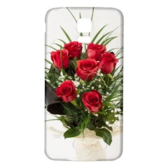 Red Roses Roses Red Flower Love Samsung Galaxy S5 Back Case (White)