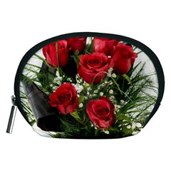 Red Roses Roses Red Flower Love Accessory Pouches (Medium)