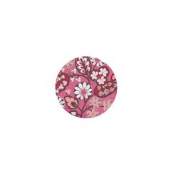 Flower Floral Red Blush Pink 1  Mini Buttons