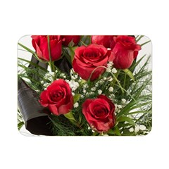 Red Roses Roses Red Flower Love Double Sided Flano Blanket (mini)