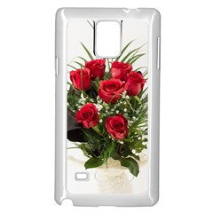Red Roses Roses Red Flower Love Samsung Galaxy Note 4 Case (white)
