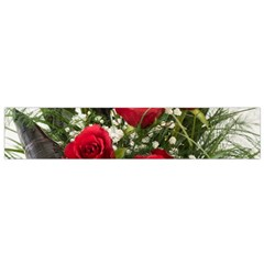 Red Roses Roses Red Flower Love Flano Scarf (small)