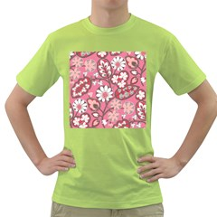Flower Floral Red Blush Pink Green T Shirt