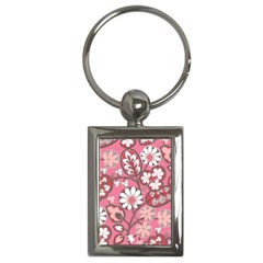 Flower Floral Red Blush Pink Key Chains (Rectangle)