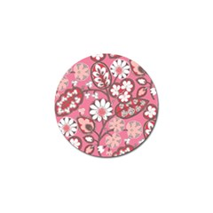 Flower Floral Red Blush Pink Golf Ball Marker (10 Pack)